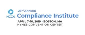 2019 HCCA Compliance Institute Recap