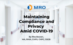 Maintaining Compliance and Privacy amid Covid-19