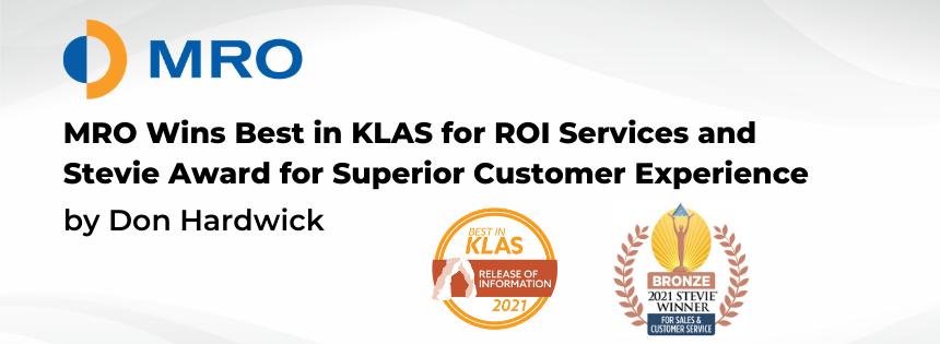 MRO Wins KLAS Report in ROI Services